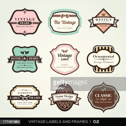vintage labels and frames vector art thinkstock