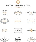 Bundle Collection of Vintage icon Designs