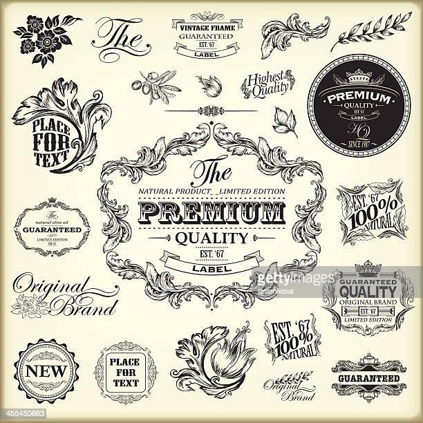 Étiquettes vintage