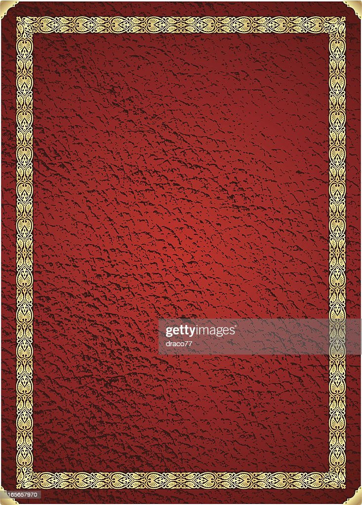 Vintage Leather Book Cover : Vintage leather book cover vector art getty images