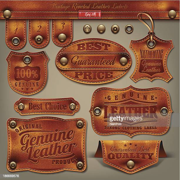 Vintage Leather Labels