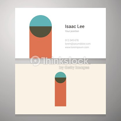 Vintage Letter I Icon Business Card Template Vector Art | Thinkstock
