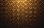 Vintage asia light pattern gold background vector