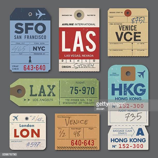 Vintage etiquetas de equipaje