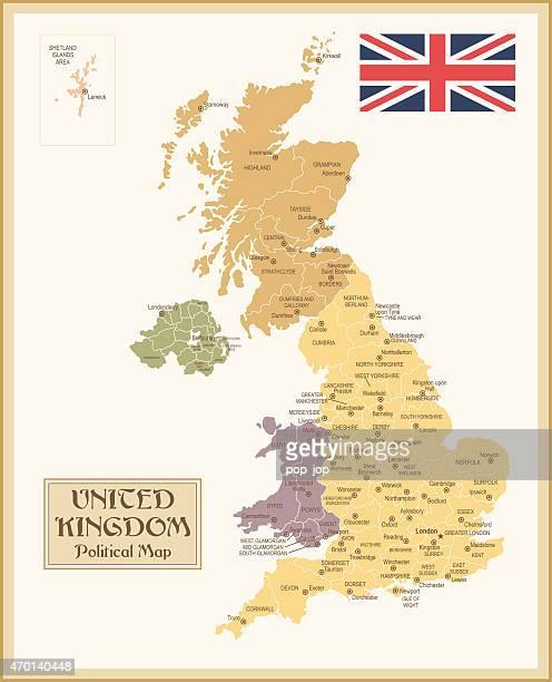 Vintage Map of United Kingdom