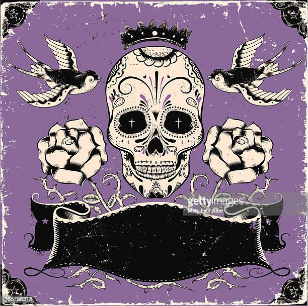 Vintage mexicana cráneo