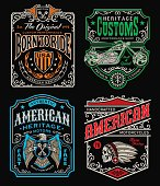 Vintage motorcycle inspired t-shirt graphics, easily modifiable for multiple uses.