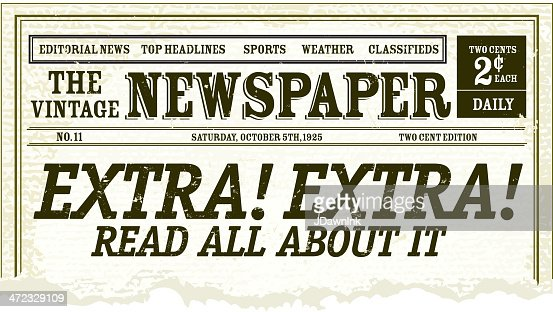 Vintage Newspaper Clipping Design Vector Art | Getty Images