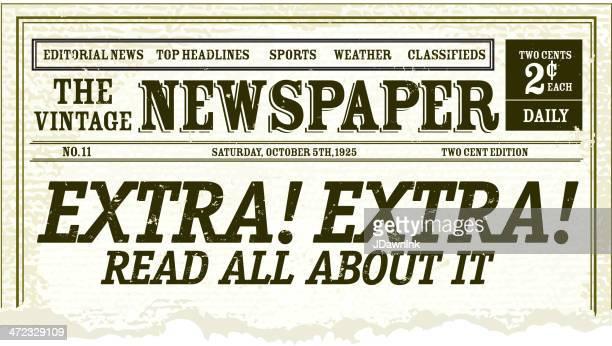Vintage Newspaper clipping design