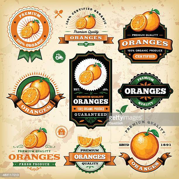 Vintage Oranges Label