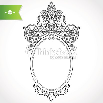 vintage ornate frame vector art thinkstock