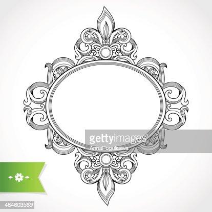 Ornate vintage frame vector