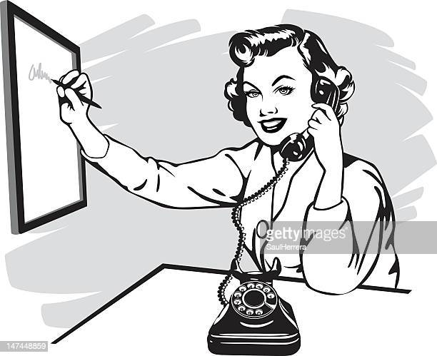 Secretary Vector Art And Graphics | Getty Images