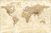 Highly detailed vector illustration of world map -