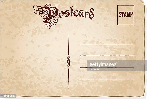 Retro Postkarte-Vorlage