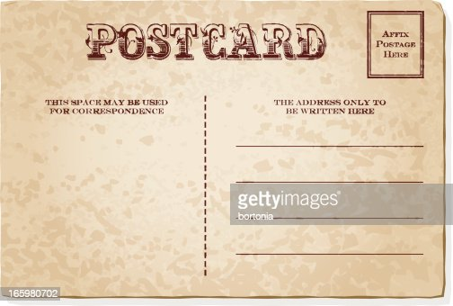 Vintage Postcard Template Vector Art | Getty Images