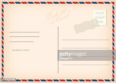 Vintage Carte postale : clipart vectoriel