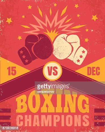 Vintage poster for a boxing : stock vector