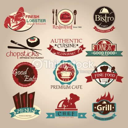Vintage Retro Grungekaffee Und Restaurant Etiketten ...