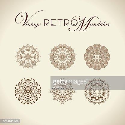 Vintage retro mandala design. : Vector Art