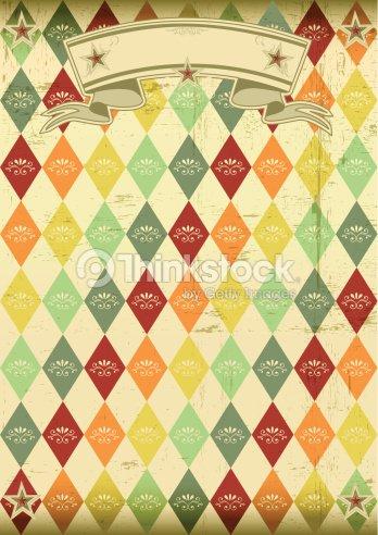 rhombus パターンビンテージポスター ベクトルアート thinkstock