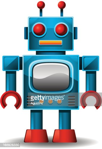 vintage robot vector art getty images