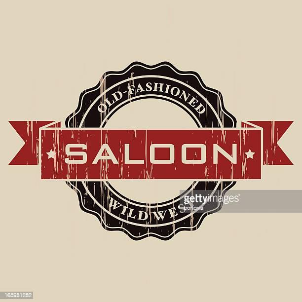 Vintage Saloon Label