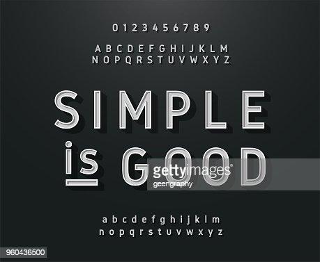 Vintage sans serif alphabet. Retro typography font classic style : stock vector