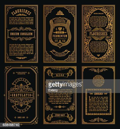 Vintage-set retro-Karten. Vorlage für Grußkarte Hochzeit Einladung. Der Welt : Vektorgrafik