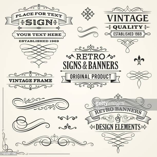 Vintage Signs and Banners