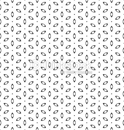 Vintage Simple Seamless Black And White Flower Pattern Vector Art