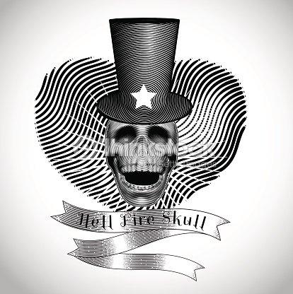 vintage skull racing team vector illustration vector art thinkstock