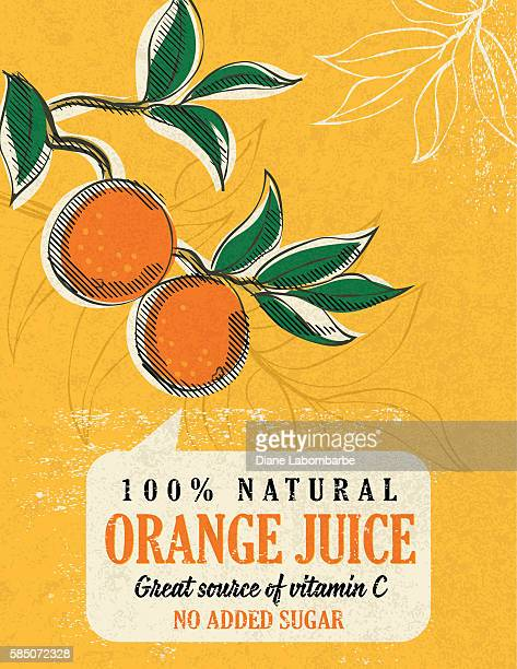 Vintage Style Advertising Orange Juice Poster