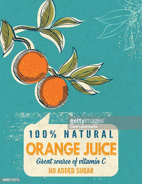 Vintage Style Advertising Orange Juice Poster