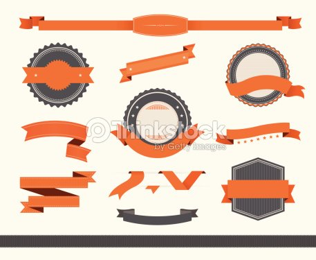 Vintage Style Badge Ribbons Vector Art