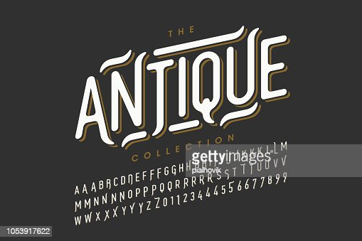 Vintage style font design : stock vector