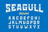 Vintage Style Seagull alphabet