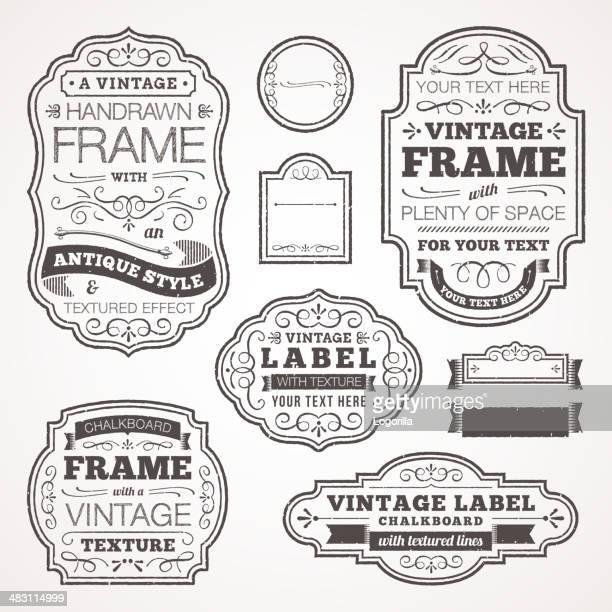 Vintage text frames