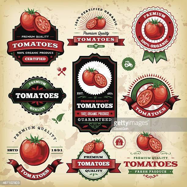 Vintage-Tomaten-Label