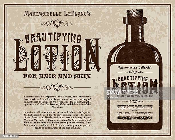 Vintage Victorian Style Lotion Advertisement