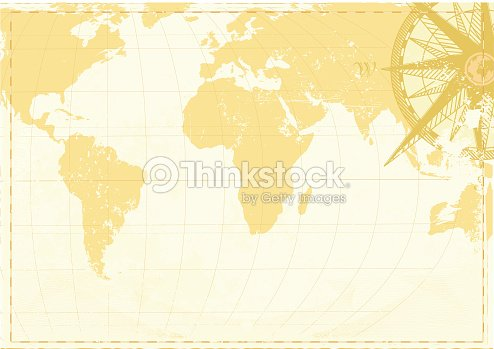 Vintage world map background with southern perspective vector art vintage world map background with southern perspective vector art gumiabroncs Images