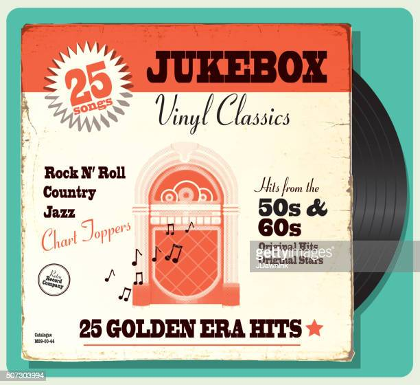 Vintage worn oldies jukebox compilation with retro design