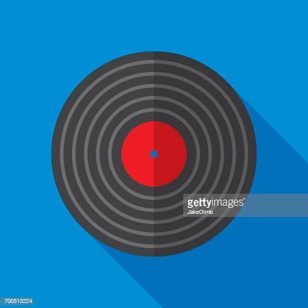 Vinyl Record Icon Flat