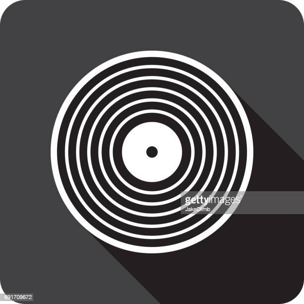 Vinyl Record Icon Silhouette