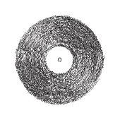 Vinyl scribble effect in vector format