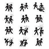 Violence icon set. Vector set of violence. eps10.