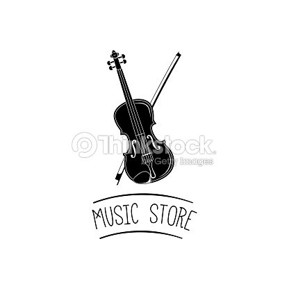 Violin Music Instrument With Bow Music Store Symbol Vector Vector