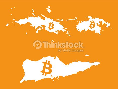 Us Virgin Islands Map With Bitcoin Crypto Currency Symbol ...