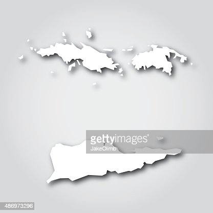 Turks And Caicos Islands Silhouette White Vector Art Getty Images - Us map white silhouette