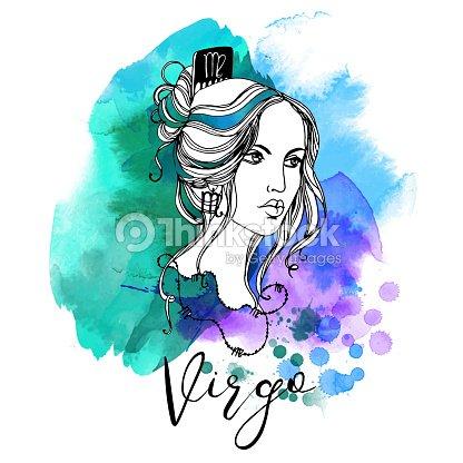 Virgo Zodiac Signs Girl Stock Vector Thinkstock